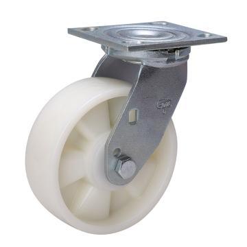 易得力(EDL) 平顶万向尼龙(PA)脚轮,脚轮重型6寸420kg,73116-736-26
