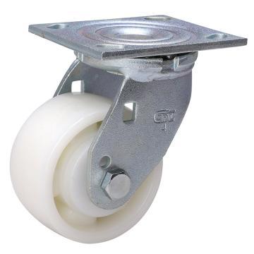 易得力(EDL) 平顶万向尼龙(PA)脚轮,脚轮重型4寸380kg,73114-734-26