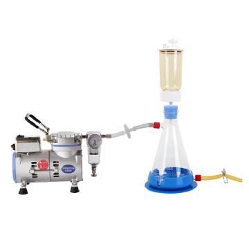 圣斯特 实验室水溶液抽滤装置,R300抽滤泵+LF31真空抽滤瓶一套,最大真空度120mbar,最大流速18L/min