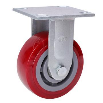 易得力(EDL) 定向高强度聚氨酯(TPU)脚轮,脚轮重型5寸380kg,73105-735-86