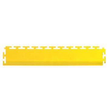 """丽施美 """"瑞盾""""工业拼接式耐磨防滑垫,边条 12*50cm 黄色 单位:块"""