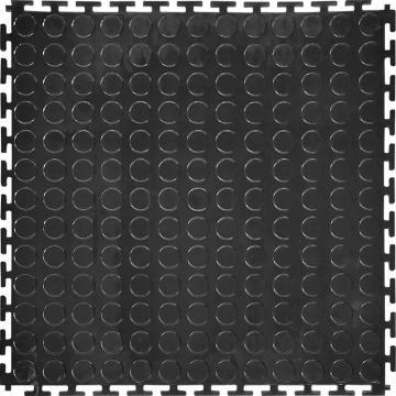 """丽施美 """"瑞盾""""工业拼接式耐磨防滑垫,主体 50*50cm 黑色 单位:块"""