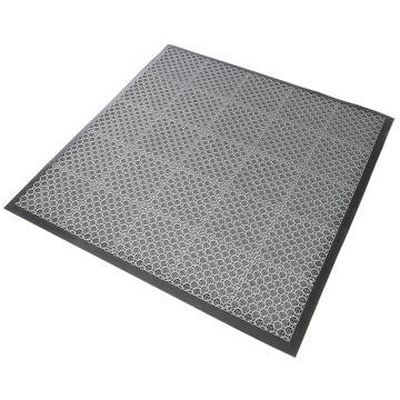 """丽施美 """"首维""""拼装式刮砂防滑地垫,主体 20*20cm 灰色 单位:块"""