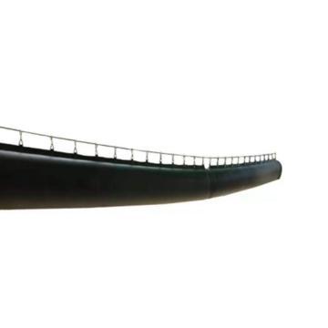 盛利 柔性抗冲击塑料涂覆布正压风筒,φ800mm*10m