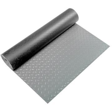 """丽施美 """"钢花纹""""耐磨防滑钢花纹地垫,2*20m 2.8mm厚 灰色 单位:卷"""
