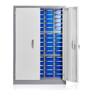 盛悦欣美 零件柜,75抽蓝色带门,尺寸(长×宽×高):680×280×990mm