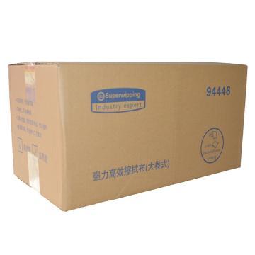 超拭(SUPPERWIPPING) 强力高效擦拭布(大卷式),94446 34.0cm*23.0cm 500张/卷*2卷/箱 单位:箱