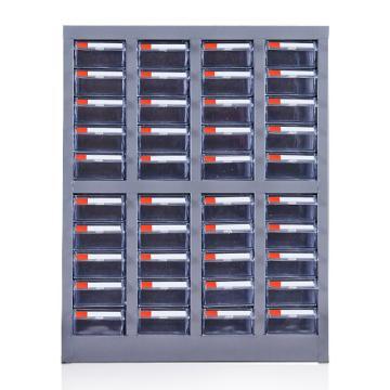 盛悦欣美 零件柜,40抽透明无门,尺寸(长×宽×高):525×220×650mm