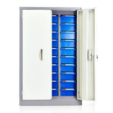 盛悦欣美 零件柜,30抽蓝色带门,尺寸(长×宽×高):615×360×940mm
