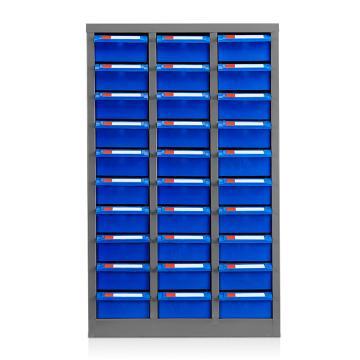 盛悦欣美 零件柜,30抽蓝色无门,尺寸(长×宽×高):540×300×880mm