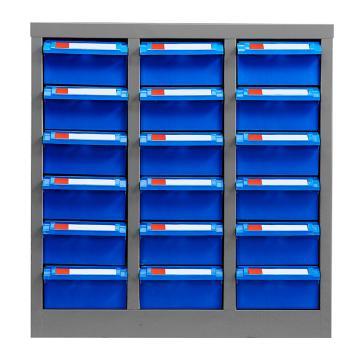 盛悦欣美 零件柜,18抽蓝色无门,尺寸(长×宽×高):550×300×570mm