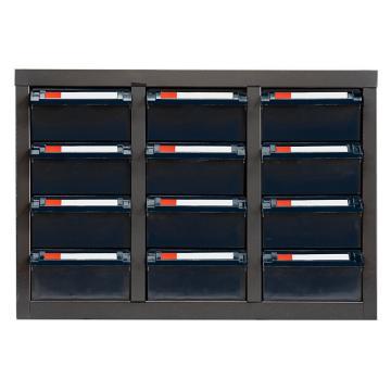 盛悦欣美 零件柜,12抽ESD无门,尺寸(长×宽×高):550×300×385mm