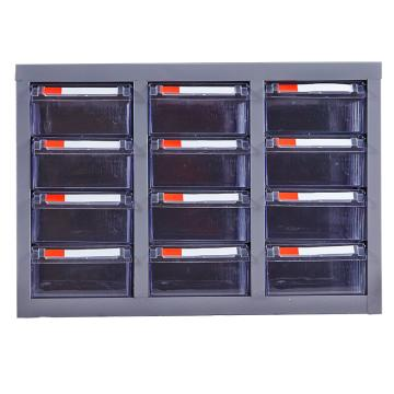 盛悦欣美 零件柜,12抽透明无门,尺寸(长×宽×高):550×300×385mm