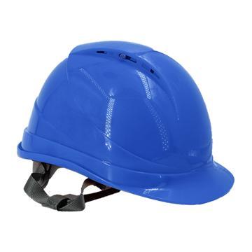 Raxwell Breathe安全帽,蓝色,耐低温电绝缘阻燃,8点式锁扣,ABS,RW5108