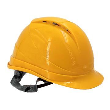 Raxwell Breathe安全帽,黄色,耐低温电绝缘阻燃,8点式锁扣,ABS,RW5105