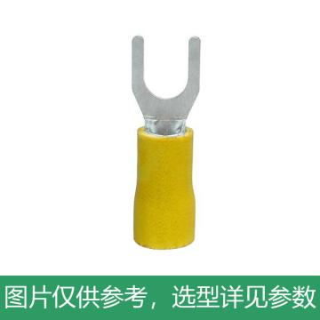 德力西DELIXI SV3.5-4叉形预绝缘端头 黄色 厚0.8mm,DHASV305M4YHB,250只/包