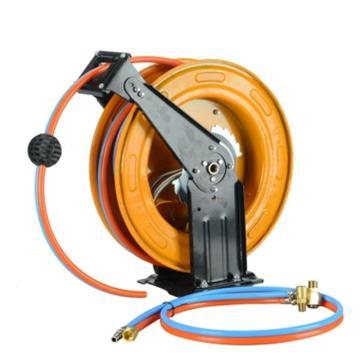 菲斯拓 双管水气混合卷管器,15米,铁盘