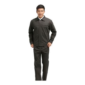 雅姿坊 全棉挂里布分身夹克式工作服春秋款套装,同型号20套起订,175