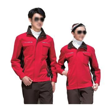 雅姿坊 水洗棉分身夹克式工作服春秋款套装,同型号20套起订,190