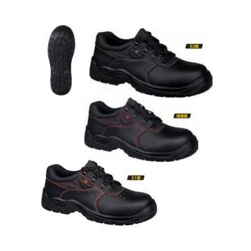 京澜 牛皮低帮安全鞋,牛皮、PU注射鞋底,定制,35-46