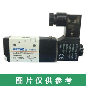 亚德客AirTAC 单控3通电磁阀,常闭型,DC24V,3V110-06-NC-B