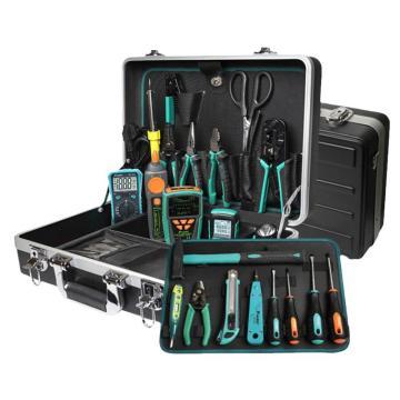 宝工Pro'sKit 光纤安装工具套装,含光纤熔接机TE-8201G-W光纤切割刀FB-1688C和工具套装PK-9472G