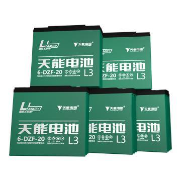 天能 电动车电池电瓶车电池铅酸电池两轮车电池,L3系列60v20ah(5只/箱)(不含安装)