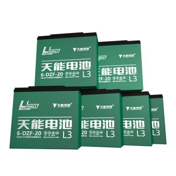 天能 电动车电池电瓶车电池铅酸电池两轮车电池,L3系列72v20ah(6只/箱)(不含安装)