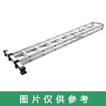 Raxwell 铝合金可折叠双侧人字梯,踏板数:7 额定载荷(KG):150 人字高度(米):2.5,RMLT0001