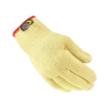 杜邦DuPont KEVLAR纤维7针虎口加强3级防割手套,KK1021,均码