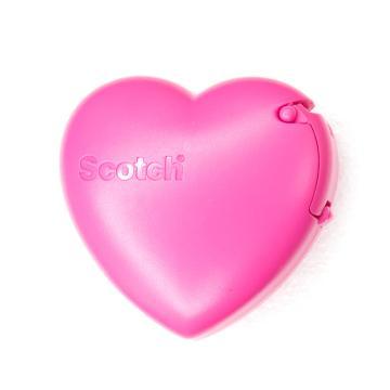 3M思高 隐形胶带爱心切割器促销装,玫瑰红,单个