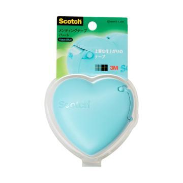 3M思高 隐形胶带爱心切割器促销装,湖水蓝, 单个