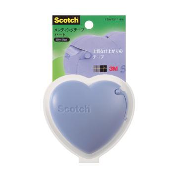3M思高 隐形胶带爱心切割器促销装,天空蓝, 单个