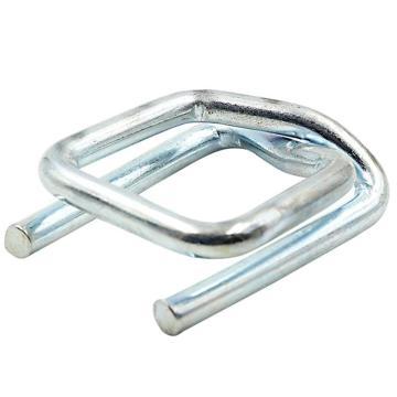 Raxwell 聚酯纤维带打包扣,金属回型扣,不锈钢镀锌,适用带宽32mm,250个/箱