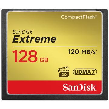 SanDisk 闪迪 至尊极速CompactFlash存储卡 CF卡 128GB 800X 读速120MB/s