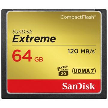 SanDisk 闪迪 至尊极速CompactFlash存储卡 CF卡 64GB 800X 读速120MB/s