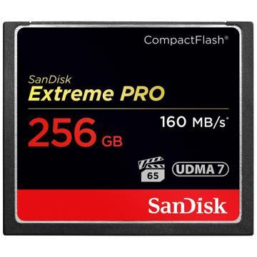 SanDisk 闪迪 至尊超极速CompactFlash存储卡 CF卡 256GB 1067X 读速160MB/s