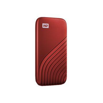 西部数据(WD)500GB Type-C固态移动硬盘(PSSD) My Passport随行SSD版 星火红