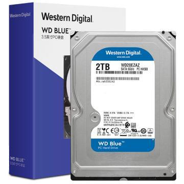 西部数据(Western Digital)蓝盘 2TB SATA6Gb/s 256MB 台式机械硬盘(WD20EZAZ)