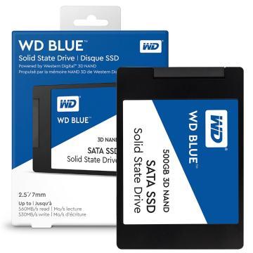 西部数据(WD) 500GB SSD固态硬盘 SATA3.0 Blue系列 3D技术 高速读写 五年质保
