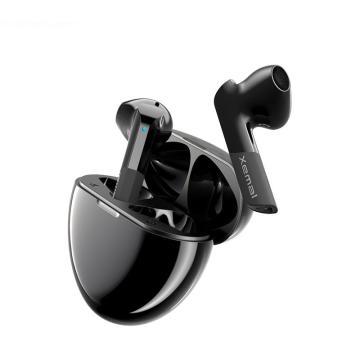 漫步者 声迈X6 真无线蓝牙耳机 迷你TWS音乐运动手机耳机 通用苹果安卓手机 黑色