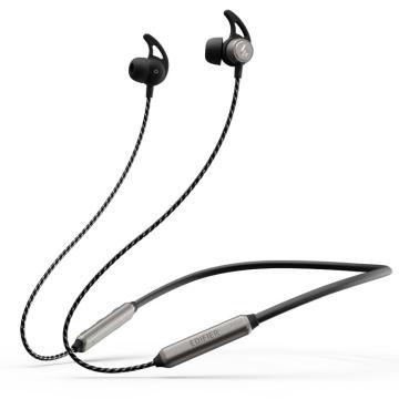 漫步者 W300BT plus 入耳式运动蓝牙耳机 无线耳机 手机耳机 防水防汗 续航持久 枪黑色