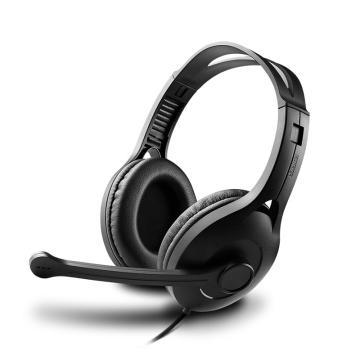 漫步者 K800 头戴式耳机 电脑耳机耳麦 办公教育 学习培训 黑色