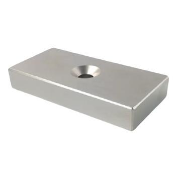雄楚 钕铁硼强磁方形,70×50×14mm带沉孔10mm,材料牌号N35,磁力3600GS