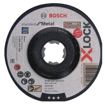 博世Bosch X-LOCK 标准型金属研磨片125x6x22.23mm,2608619366