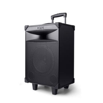 漫步者 D3-8 8英寸专业广场舞音响 会议音响 蓝牙拉杆音箱 户外音响 标配无线麦克风扩音器 黑色