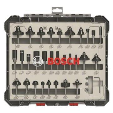 博世Bosch 木工铣刀30件套装 ¼柄,2607017476