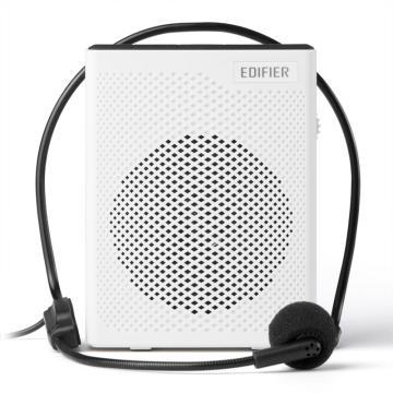 漫步者 MF5 轻便版 便携式数码扩音器 小蜜蜂大功率教学专用教师导游扩音器 唱戏机 白色