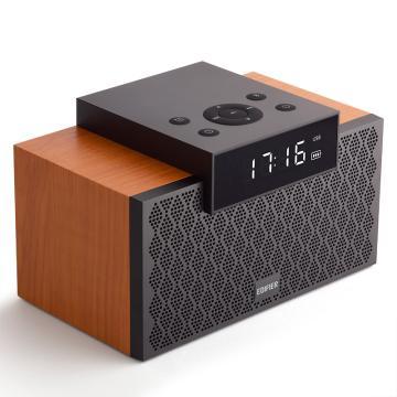漫步者 M260 多功能小型音箱 蓝牙音箱 闹钟音箱 有源音箱 蓝牙5.0 经典版 木纹色