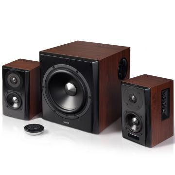 漫步者 S201 全功能HIFI有源2.1音箱 音响 电脑音箱 电视音响 黑色